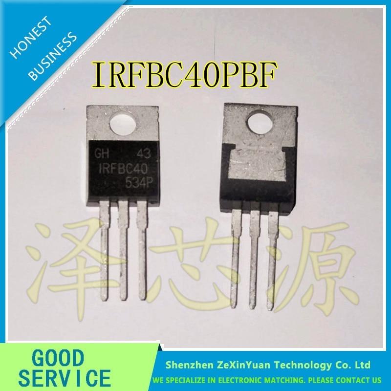20 unids/lote IRFBC40PBF IRFBC40 TO220 600V 6.2A a-220