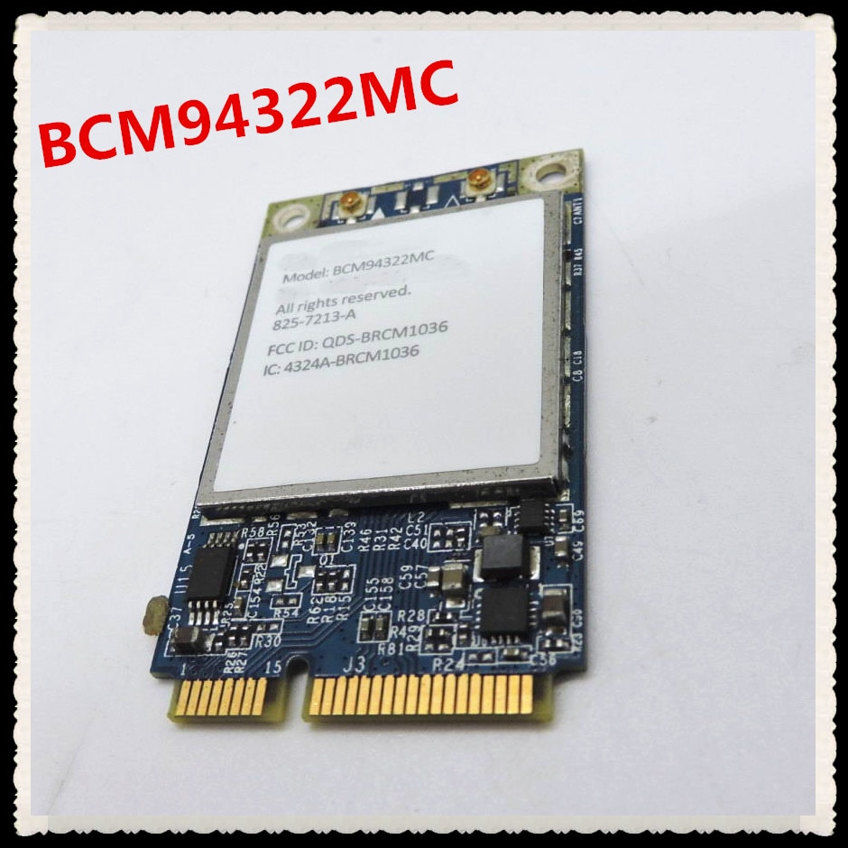 Pour APPLE Broadcom BCM94322MC 4322 AGN 2.4 & 5G 300Mbps sans fil-N Wifi PCI-E Mini carte réseau sans fil Wlan compatible MAC OS