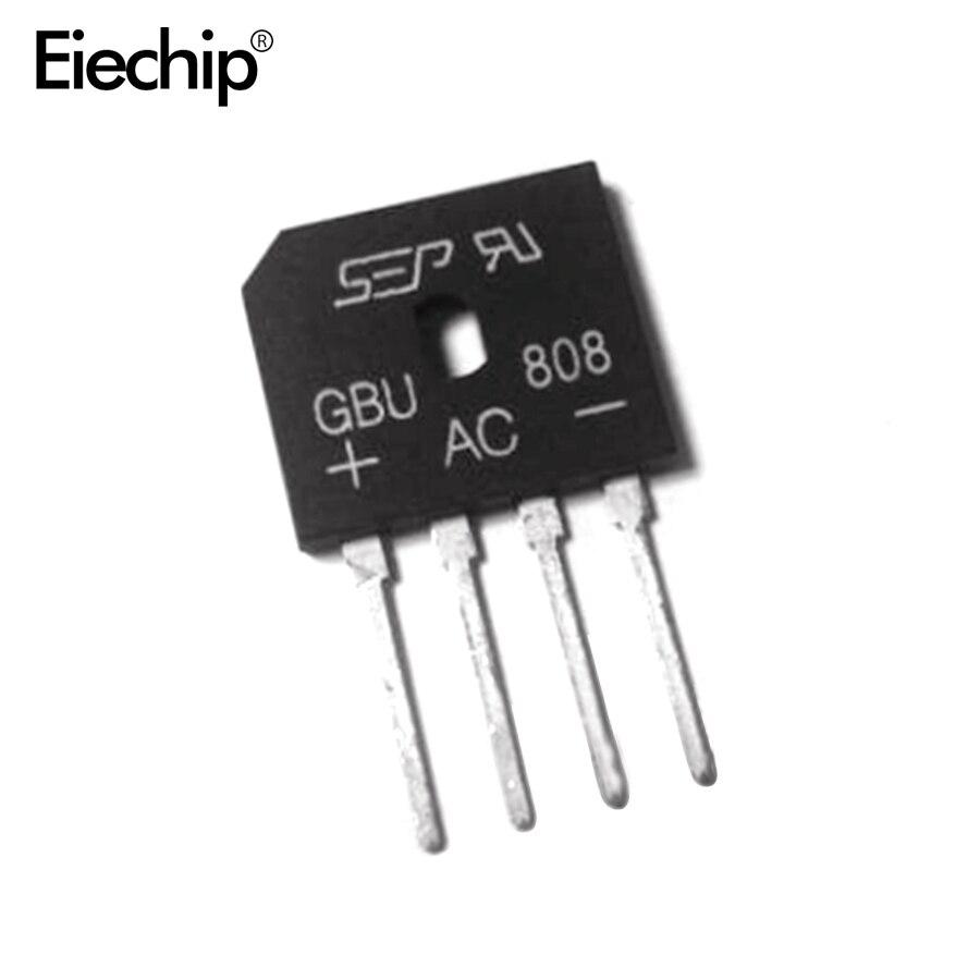 5 uds GBU808 800V 8A de Puente rectificador de diodo