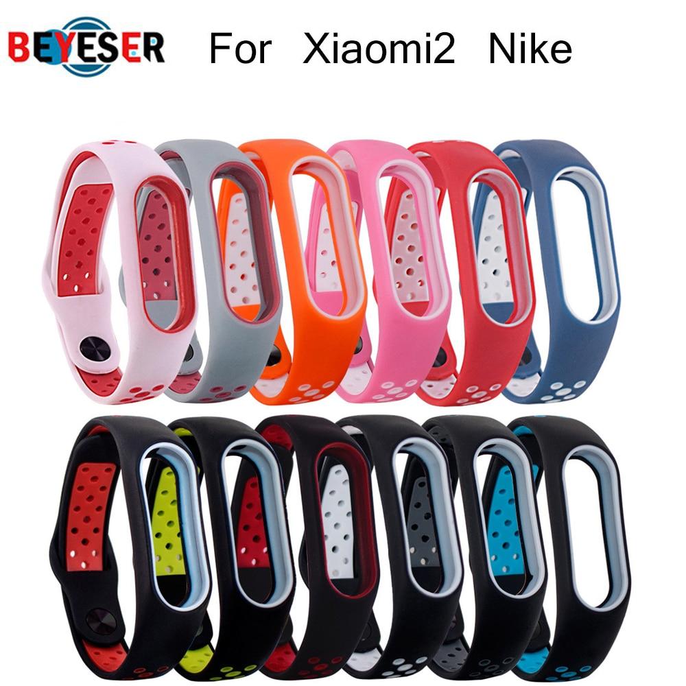 BEYESER for xiaomi2 Nike Strap Bracelet wrist strap  for xiaomi2 Nike watch  accessories smart bracelet sport Silicone Strap