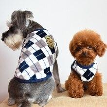 Manteaux dhiver classiques en flanelle   Pull de haute qualité pour chiens, vêtements pour animaux chat, britannique, treillis de diamants en flanelle, gilet décontracté