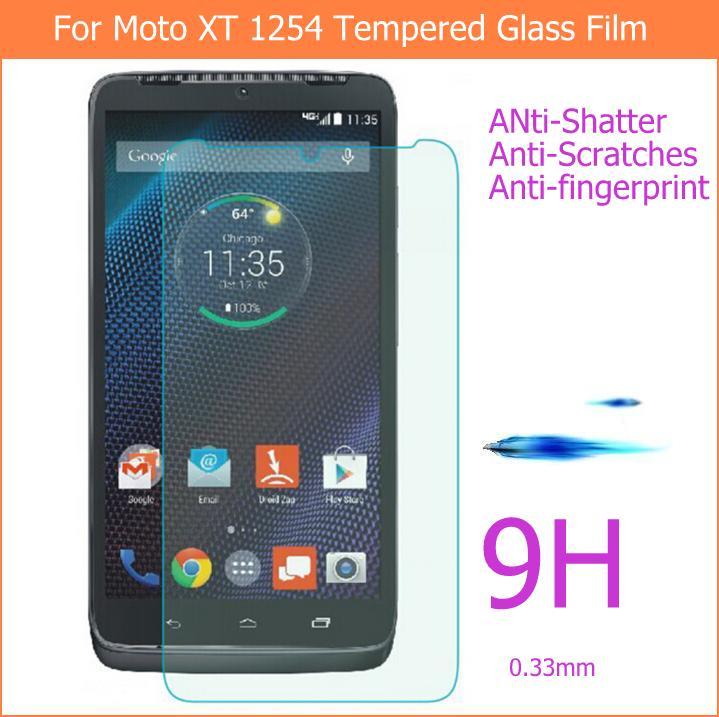 Vidrio templado para Motorola Droid Turbo XT1254 Protector de pantalla película protectora para MOTO XT1225 vidrio