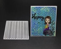 water wave pattern metal cutting mold diy scrapbook album decoration supplies clear seal diy paper card