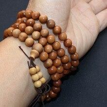 8mmx108pcs Authentic Mysore of India Sandalwood pray beads bracelet women wood bangle necklace Strong milk favor