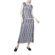 Printed fold small square collar sleeveless dress long dress elegant and generous free shipping