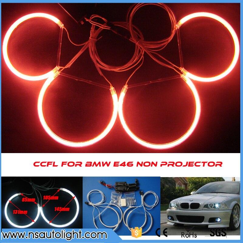 Ultra brillo CCFL Ojos de Ángel para BMW e46 no proyector 131mm y 145mm ccfl Ángel ojo iluminación e46 marcador de Ojos de Ángel ccfl