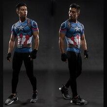 TUNSECHY mode marque Captain America 3D imprimé T-shirts hommes Marvel Avengers iron man Fitness vêtements hauts hommes T-shirts