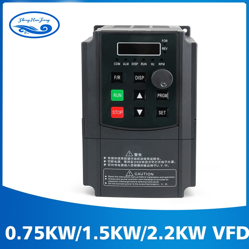 شحن مجاني 0.75 kw/1.5kw /2.2kw 220V/110V AC التردد العاكس مرحلة واحدة المدخلات 3 مرحلة الانتاج Ac محركات ل موتور CNC