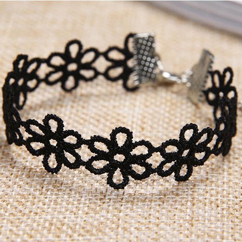 Pulsera de encaje con cinturón de terciopelo negro de múltiples capas a bajo precio, brazaletes y joyas de encaje de seda para amantes de las mujeres