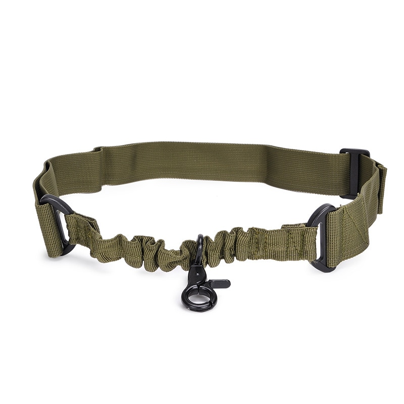 Na zewnątrz regulowany wielofunkcyjny Tactical pojedynczy punkt Bungee Airsoft Sling jeden punkt pasek akcesoria do polowania
