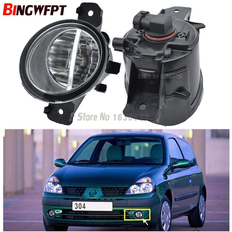 2 uds. (derecha + izquierda) luces antiniebla LED H11/halógenas, luces drl reajustadas para Renault CLIO II (BB0/1/2 _, CB0/1/2 _ Hatchback 1998-2004