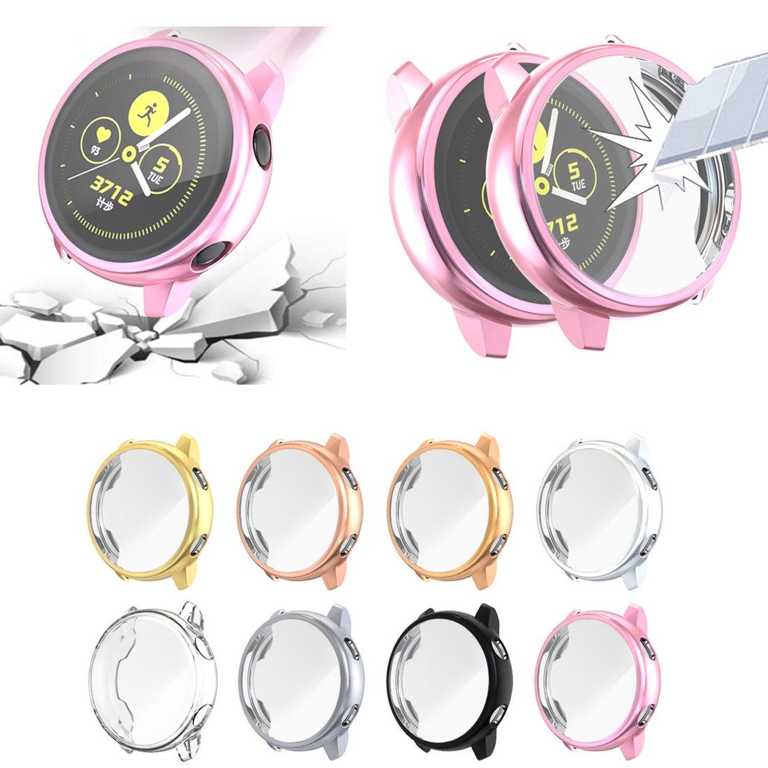Funda protectora enchapada para Samsung Galaxy Watch funda de silicona suave Ultra fina activa para Galaxy Active 40mm SM-R500 caso de Shell