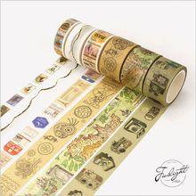 Alte Kamera Karte Retro Briefmarken Formel Reisen Dekoration Washi Band DIY Planer Tagebuch Scrapbooking Aufkleber Masking Tape