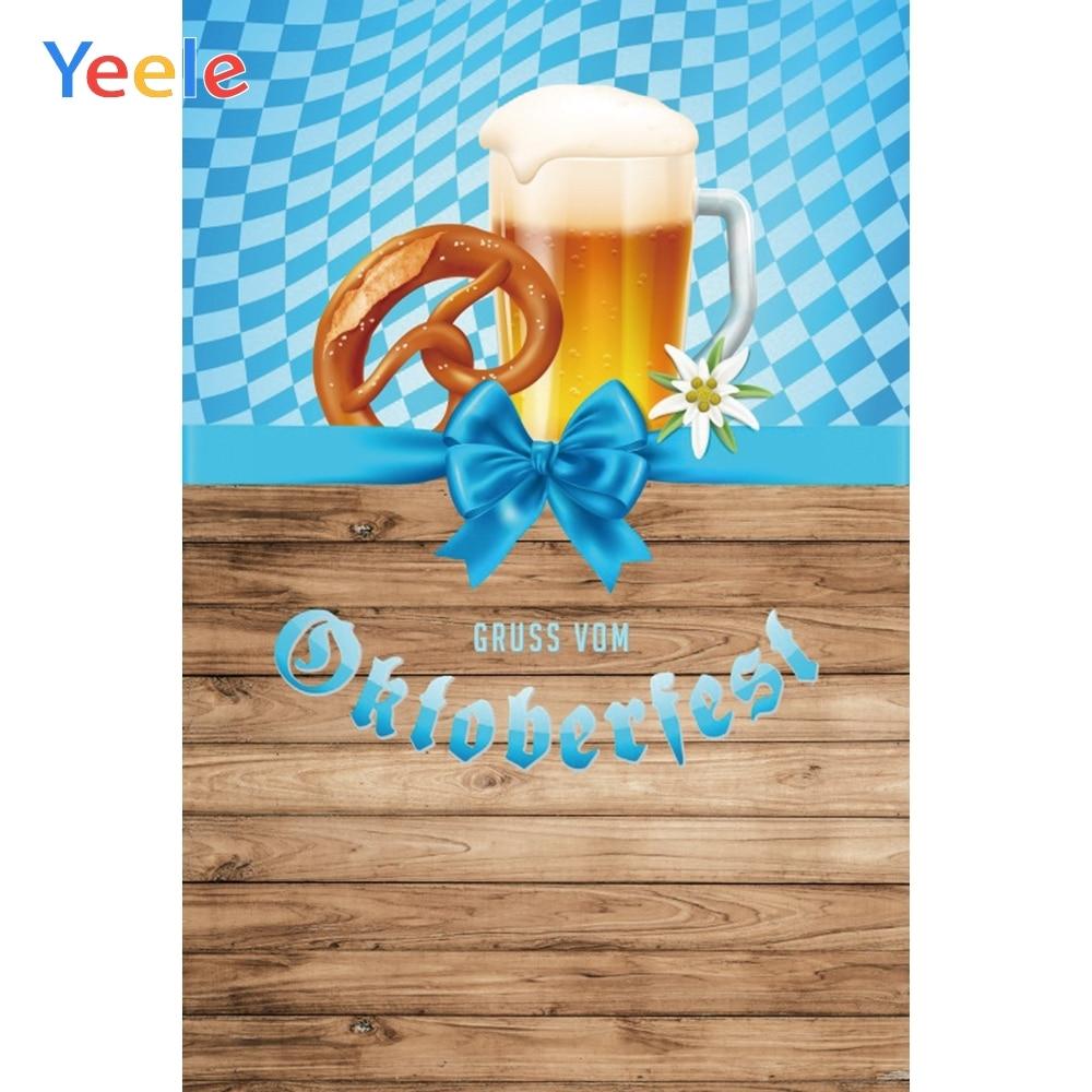 Yeele Oktoberfest carnaval bois naturel aliments bières arrière-plans de photographie arrière-plans photographiques personnalisés pour Studio Photo