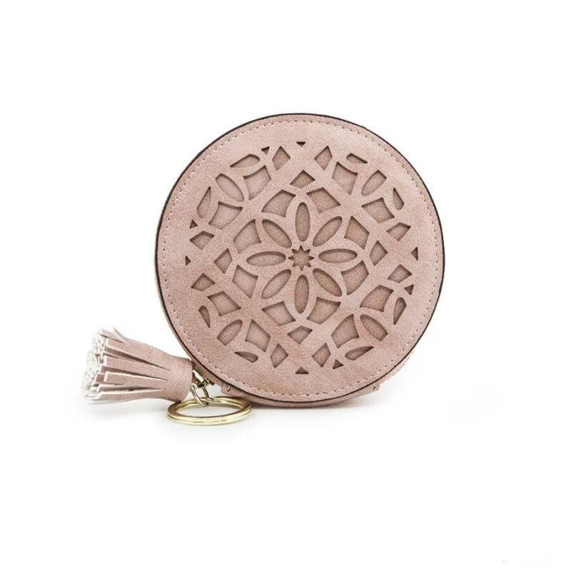 New fashion design round head wallets women small cute cartoon kawaii card holder key chain money bags for girls ladie