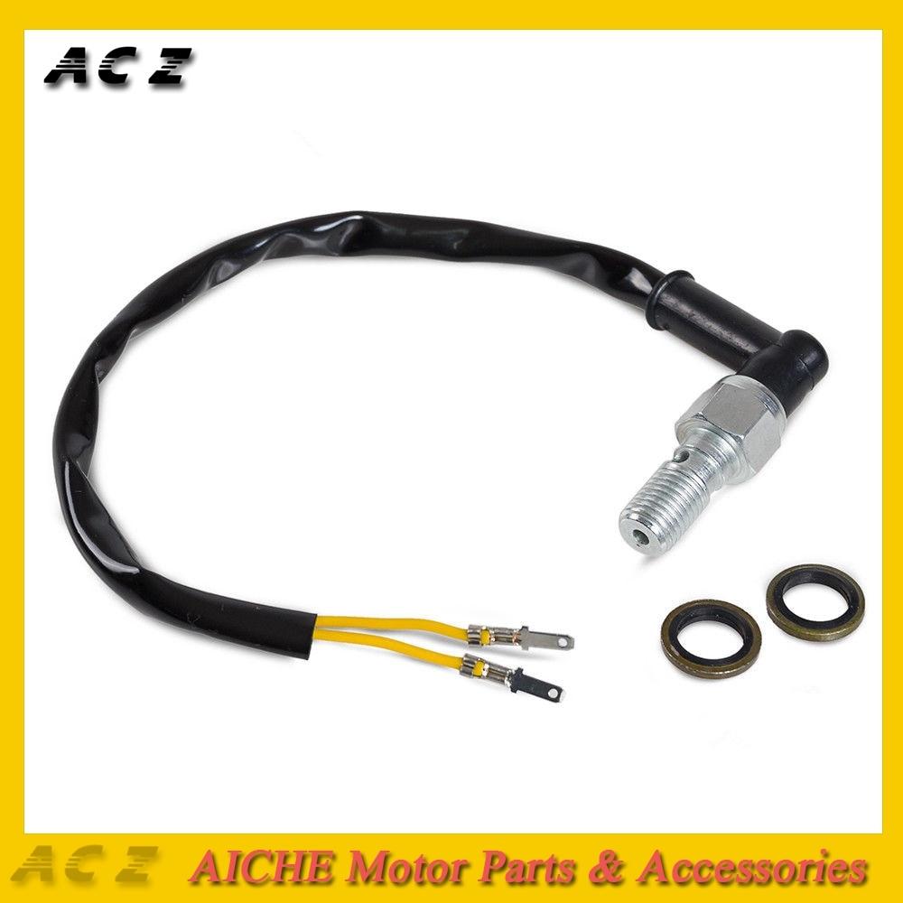 Motocicleta Universal ACZ para interruptor de luz de freno hidráulico Banjo Bolt 10mm x 1,00 Pitch