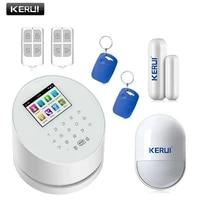 KERUI     systeme dalarme de securite domestique W2  wi-fi  GSM  intelligent  anti-cambriolage  avec clavier tactile  application IOS et Android  telecommande