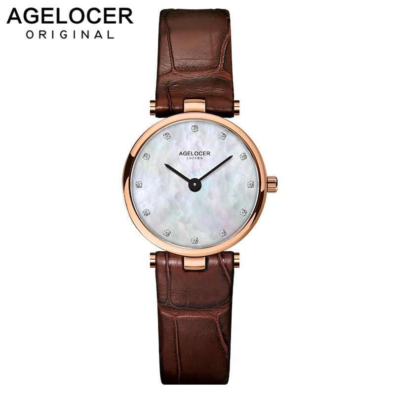 AGELOCER Women Watch Luxury Brand Fashion Casual Ladies Gold Watch Quartz Simple Clock Relogio Feminino Reloj Mujer Montre Femme
