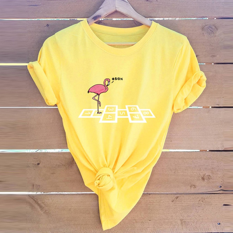 New Women Tshirt Japanese Crane Play Game 2019 Summer Female Short Sleeve Harajuku Shirts Femme Tops 5XL Plus Size Graphic Tee