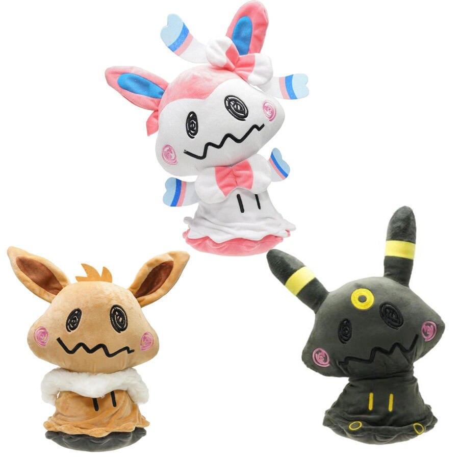 Mimikyu Косплей плюшевые куклы Umbreon Eevee Sylveon мягкие игрушки 30 см Бесплатная доставка
