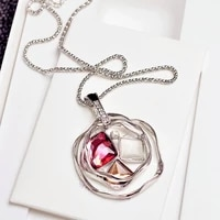 hollow flower long necklace for women fashion bijoux sweet jewelry accessories all match