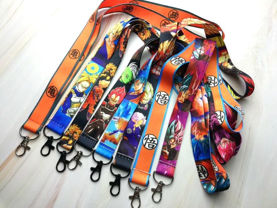 5 pcs /Wholesale lot cartoon Dragon Ball Z Goku Sayajins Maste  Necklace Strap Lanyards Cell Phone PDA Key ID Strap Charms LX-1