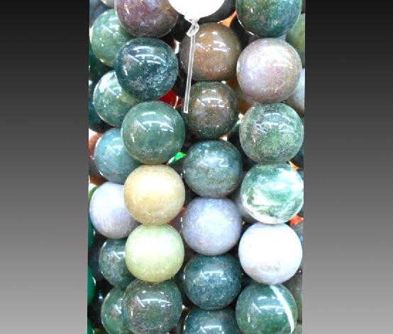 Superventas, cuentas de piedra de la India de 4mm, 6mm, 8mm, 10mm, 12mm, color natural mezclado, para fabricación de joyas DIY