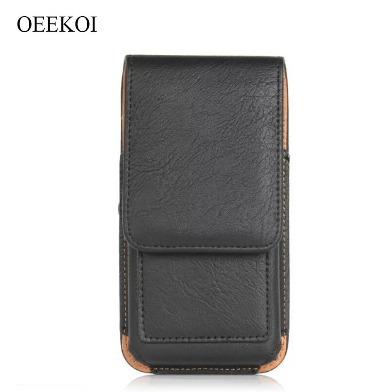 OEEKOI Rhino Pattern PU Leather Belt Clip Holster Pouch Case for Nodis ND-555 Alpha/ND-570