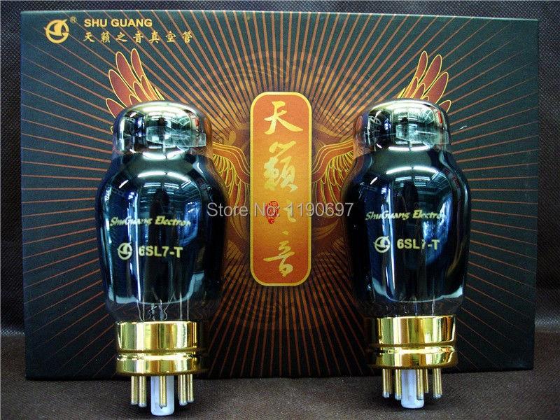 NEW SHUGUANG Matched Pair 6SL7-T HIFI ELECTRON Tube Replace 6SL7 6N9P 6H9C Vacuum Tube 2PCS Free Shipping