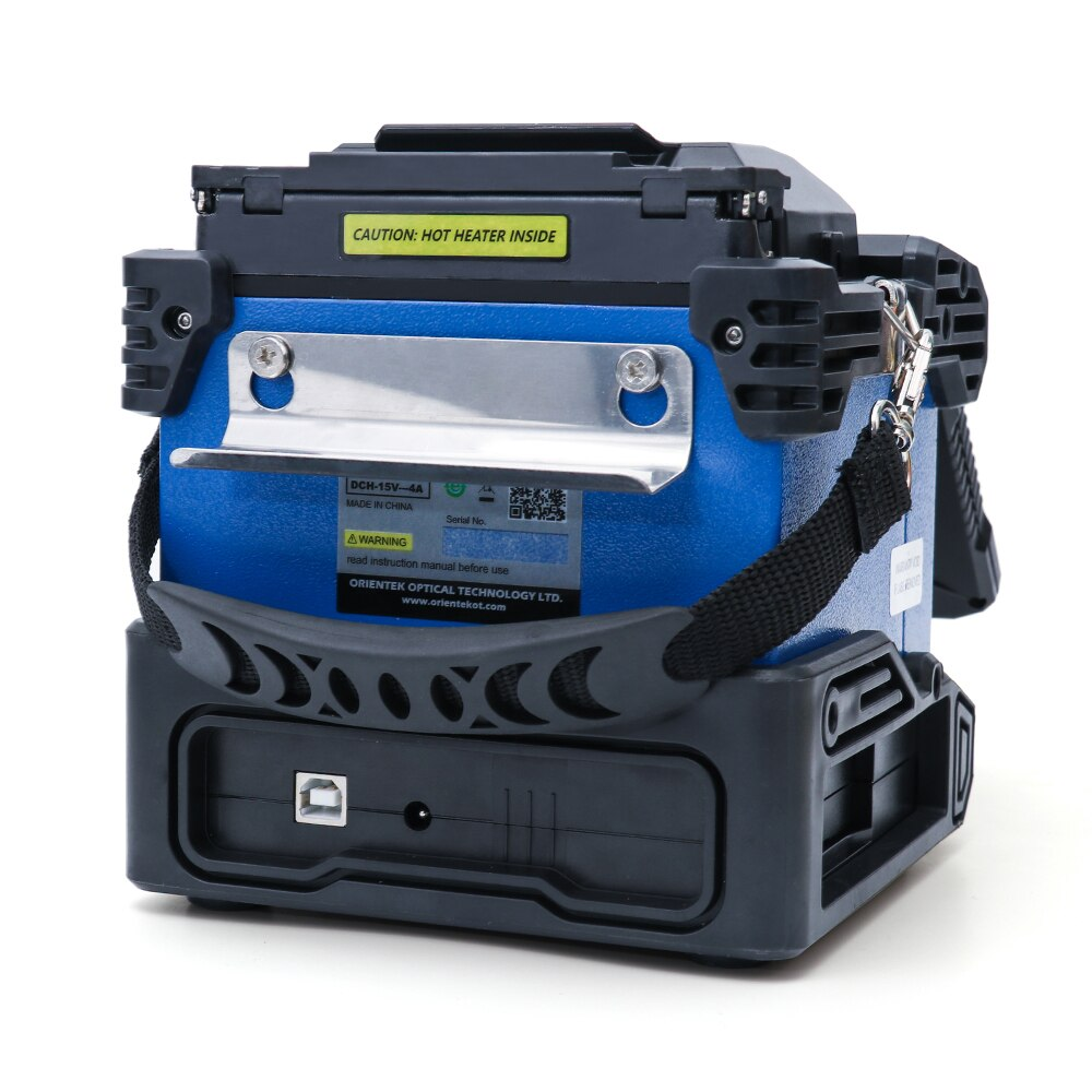 Nuevo Mini empalmador de fusión óptico portátil Orientek T43, máquina de empalme de cables