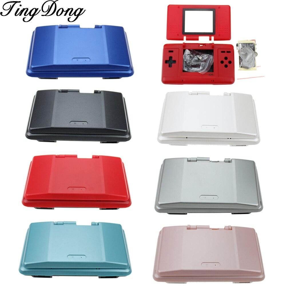 7 TingDong Cores Opcional Shell de Substituição Caso Da Tampa Da Caixa Conjunto Completo para Nintendo DS para NDS Consola de jogos
