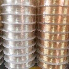 Di alta Qualità 0.3-0.6MM Argento KC Oro di Colore Non-appannamento Fili di Rame Corde FAI DA TE Risultati Dei Monili Accessori