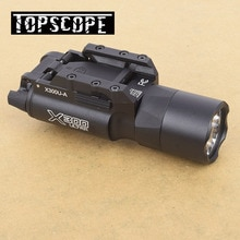 Tactical X300U High Output LED 500 Lumens Flashlight Light Handguns Picatinny Weaverer Universal Rai