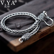 V.YA 4MM 5MM Thai argent hommes Bracelets 100% 925 argent Sterling serpent chaîne Bracelet pour hommes Style Vintage bijoux fins