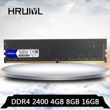 HRUIYL PC Ram DDR4 4 GB 8 GB DDR 4 16 GB 2400 MHZ carte mère mémoire de bureau PC4-19200U 2400 MHZ 8G 16G 4G Ram DIMM Memoria