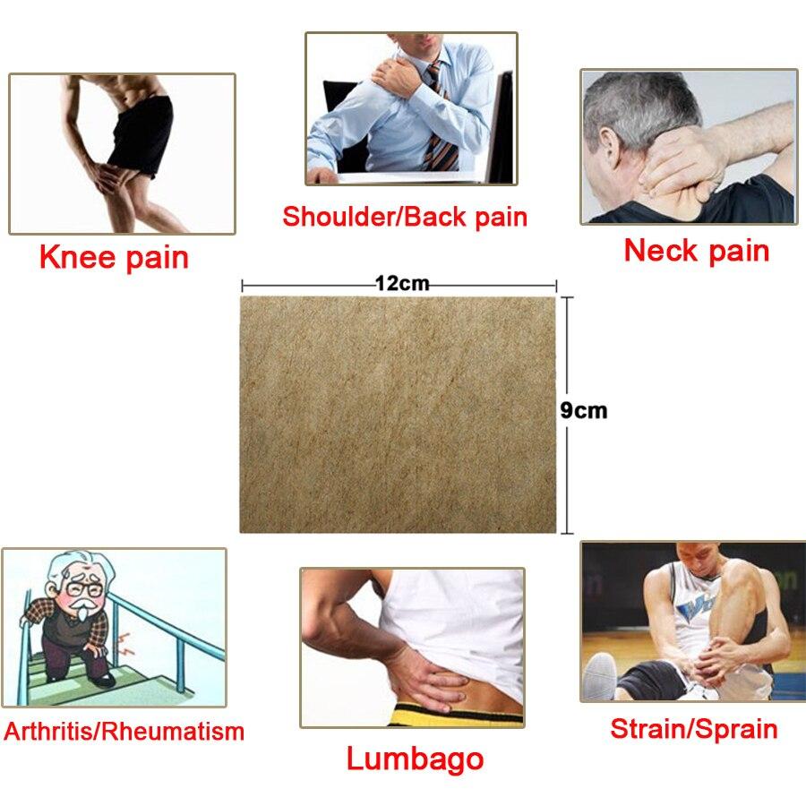 Купить с кэшбэком 8pcs/bag Herbal Medical Back Pain Relief Plaster Patch For Knee Shoulder Neck Waist Body Health Care Massage Product New 2019