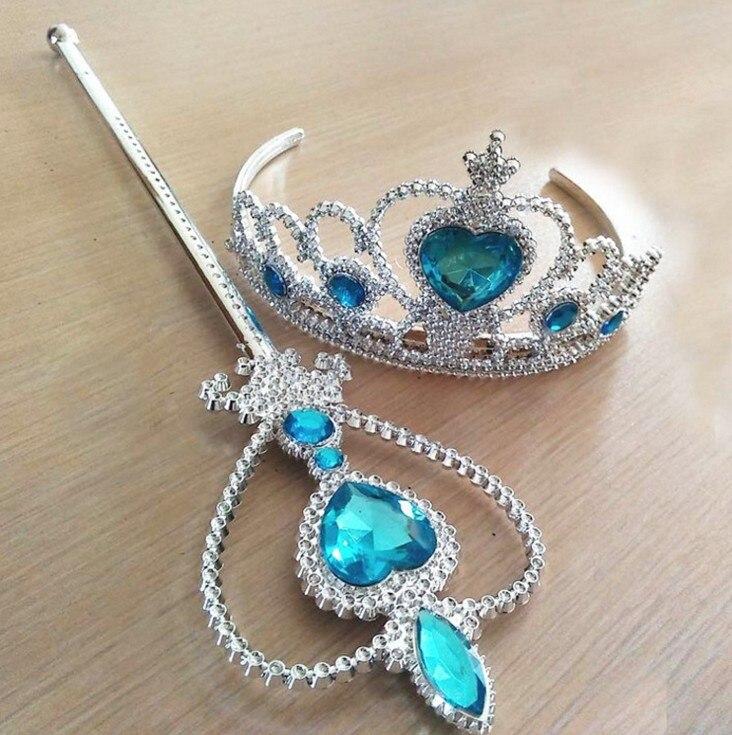 2018 niñas corona de princesa accesorios para el cabello corona nupcial cristal diamante Tiara aro diadema bandas para el pelo para niños cintas para el pelo de fiesta