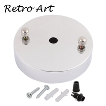 Livraison gratuite D100mm plafond auvent plafond Rose applique Base éclairage accessoires blanc cordon grip-argent
