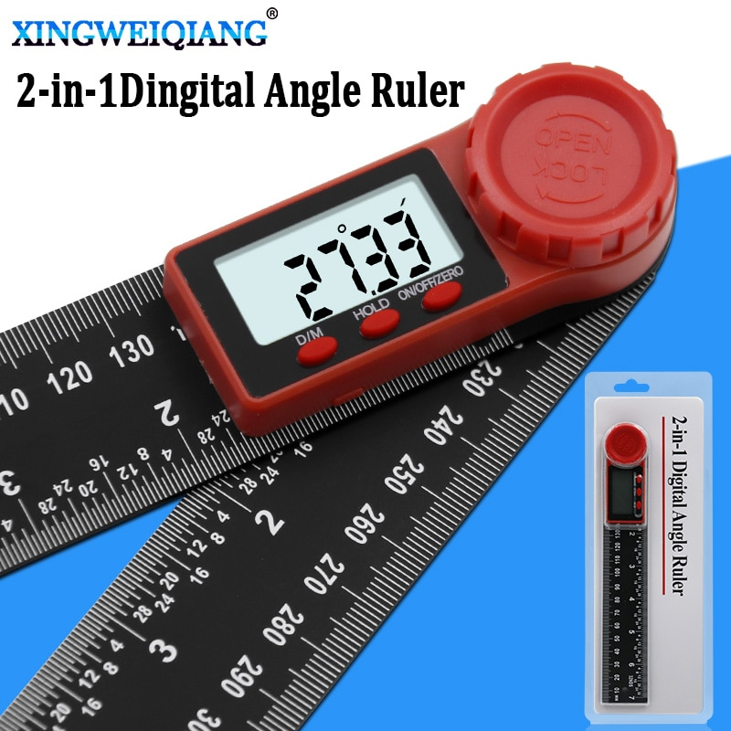 Inclinómetro de ángulo digital, instrumento de 200mm, balanza digital de ángulo, goniómetro...