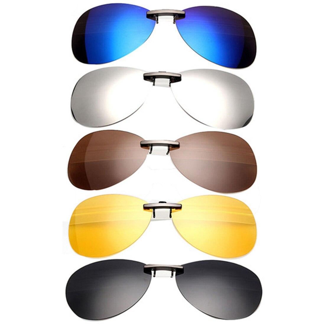 Новые зажимы в виде солнцезащитных очков, Модный классический дизайн, унисекс, поляризованные солнцезащитные очки на застежке, ночное виде...