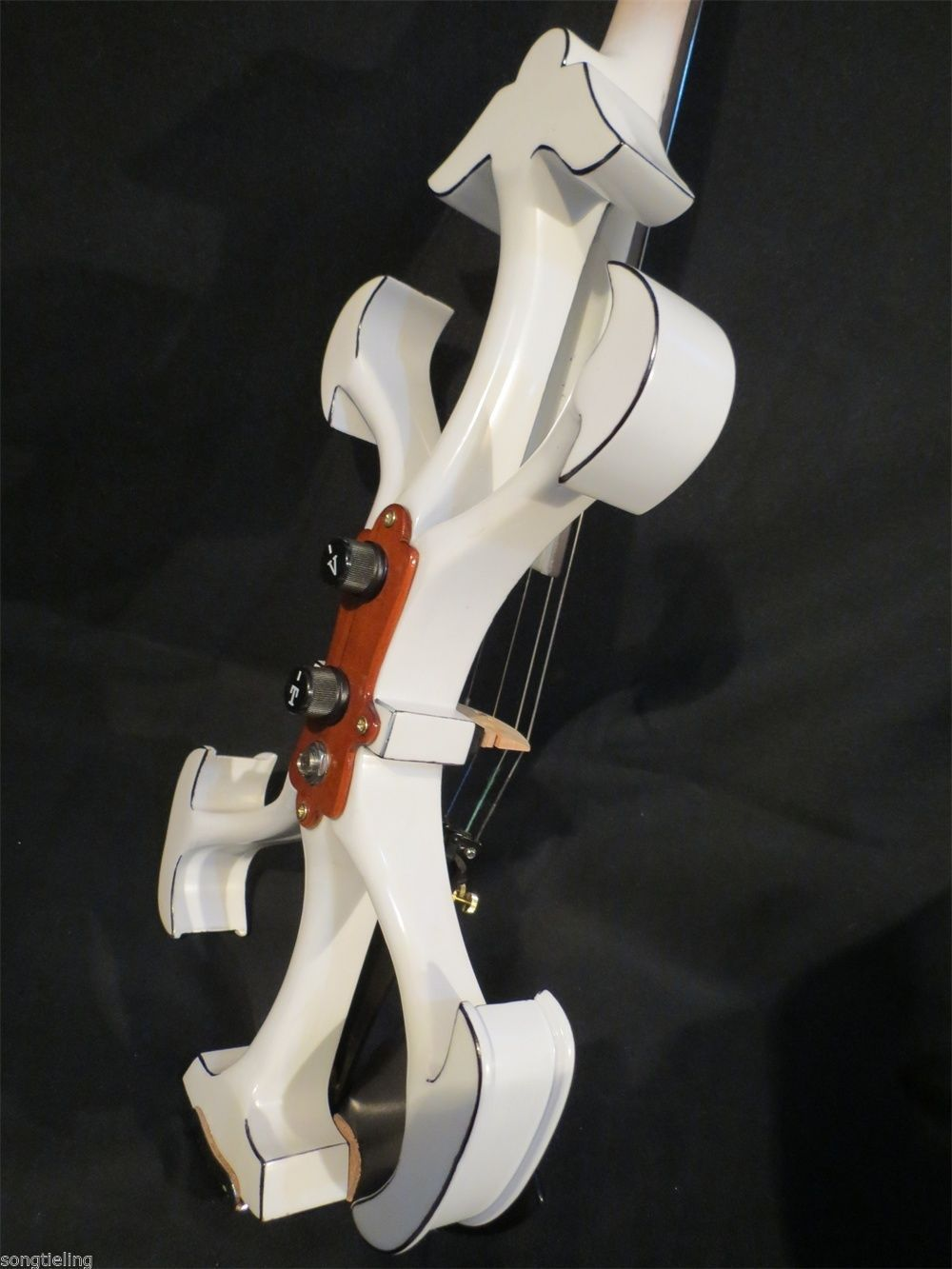 SONG Brand Top art Crazy-2 white color 4/4 electric violin enlarge