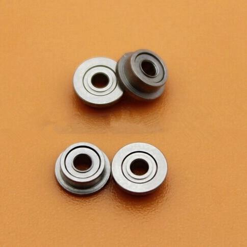 100pcs/lot  MF63ZZ  flanged bearing  3x6x2.5 mm  LF-630ZZ  MF63 -2Z miniature flange deep groove ball bearings  3*6*2.5