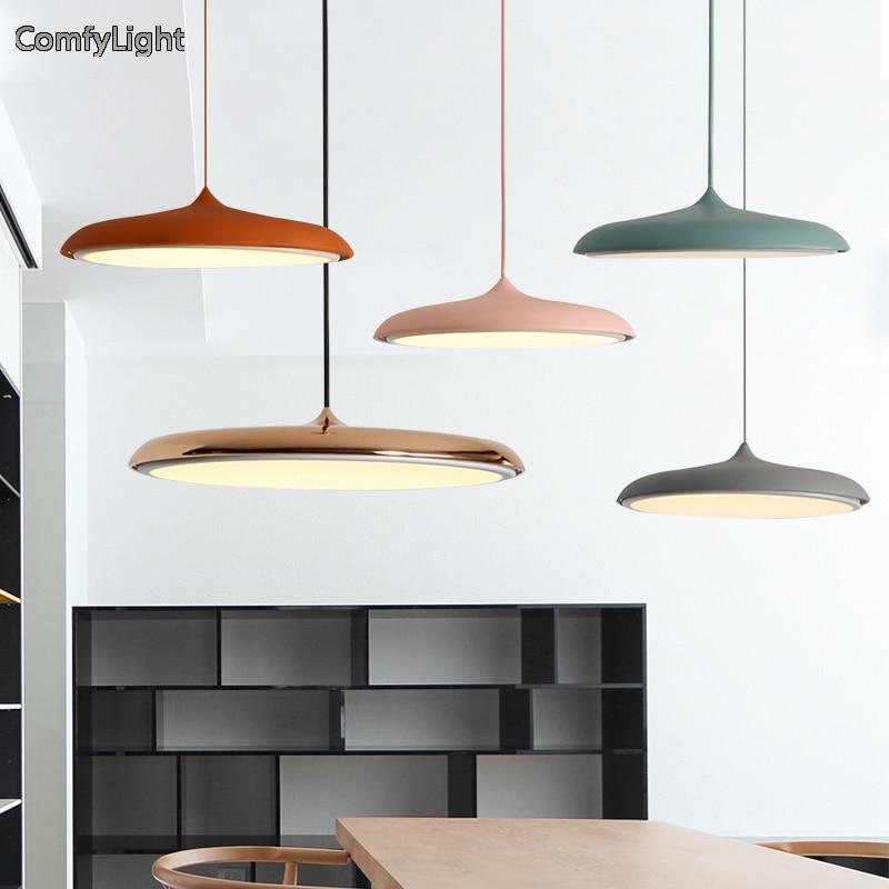 Lámpara colgante nórdica de color dorado/Cobre, lámpara LED para dormitorio, cocina, tienda, ventana, iluminación para el hogar
