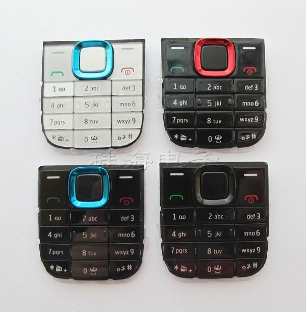 Negro/Blanco/azul/rojo 100% nuevo Ymitn cubierta de la carcasa del móvil Keypads teclados botones para Nokia 5130 envío Gratis