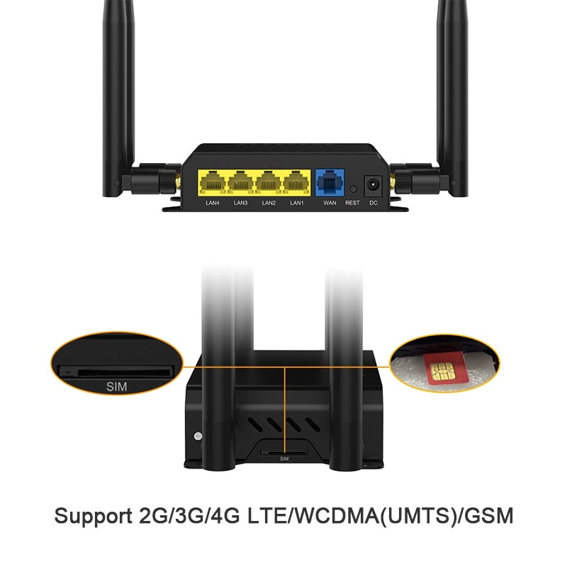 Фото - 4G Router With SIM Card 4G Router 300Mbps Wireless Router MT7620 Chipset Vpn Router 4G LTE Router PPTP L2TP Openwrt Wifi Router huasifei 4g dual card multi mode intelligent 1200m 3g4g lte dual sim card router openwrt l2tp router wifi modem router with sim