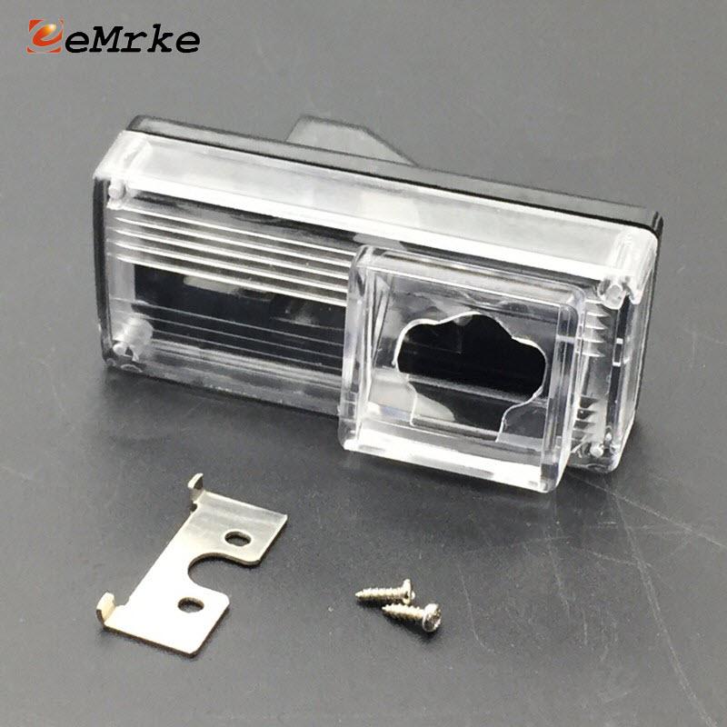 EEMRKE DIY soporte de la cámara del coche reemplazo de la matrícula de la carcasa de las luces para Toyota Reiz Mark X MarkX Pruis 2004- 2009