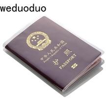 หนังสือเดินทางท่องเที่ยวกันน้ำกันน้ำกันน้ำโปร่งใสFrosted IDผู้ถือบัตรผู้หญิงผู้ชายแฟชั่นธุรก...
