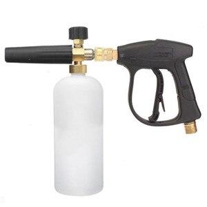 """Image 1 - HNYRI Регулируемый набор очистителей для мыла G1/4 """", быстросъемная насадка для снежной пены с насосом для распыления мыла и воды"""