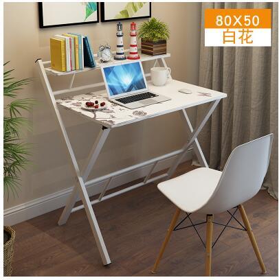 Складной простой Домашний Настольный Ноутбук, офисный компьютер, обучающий студенческий стол, простой письменный стол.