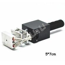 110V/220V deri kabartma aracı 5*7cm el sıcak damgalama makinesi manuel Logo Embosser elektrik marka baskı